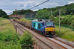Engineering Train in Lancashire (garstangpost.t21) Tags: lancashire woodacre drs directrailservices 68018 6k27