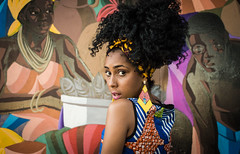 Charme (ygor.pena) Tags: brazil black art beauty brasil cores arte afro mulher beleza cor blackhair negra painel grafite artisticphotography