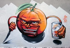 orange-jin (JIN N1 TMH) Tags: orange glass jin knife sound while n1 arancia italiangraffiti milanograffiti oranjuice mariojin uokcrew
