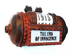 The End of Innocence (Steve Taylor (Photography)) Tags: newzealand brown black art texture museum digital spring tube calender nz cylinder worldwarone southisland ww1 1915 rivet steampunk endofinnocence