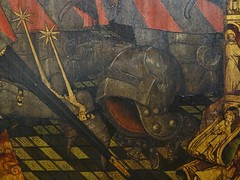 1445-1449 - 'family of Jean Jouvenel (Juvnal) des Ursins' ((circle of the) Master of the Munich Golden Legend?), Cathdrale Notre-Dame, Paris, Muse de Cluny, Paris, France (roelipilami) Tags: 1445 1449 family jean jouvenel des ursins juvenal cathedrale cathedral notre dame paris parijs parigi master munich golden legend maitre legende doree meister mnchner legenda aurea meester van gouden muse museo cluny museum armet sallet great bascinet surcoat surcotte tabard tabart votif votive panel painting armor armour rstung harnas prayer wrapper visor vizier gilded schaller salade rowel spur spurs