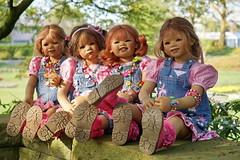 Kindergartenkinder ... (Kindergartenkinder) Tags: dolls himstedt annette ilce6000 sony essen park gruga kindergartenkinder milina sanrike tivi annemoni