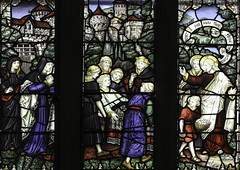 Arise! (Lawrence OP) Tags: christchurch window miracle son stainedglass newhaven widow biblical jesuschrist raising nain kempe