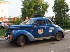 1938 - Ford Coupe (Jasonito) Tags: paris classic car russia rally olympus retro oldtimer motor  omsk challenge peking 6th omd the 2016    em5   parispeking beijingparis   panasonic14140mmf4058 omdem5