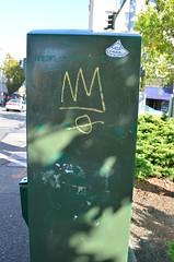 10/7/2014 (sixheadedgoblin) Tags: sticker scrawl crown publicart olympiawashington ease