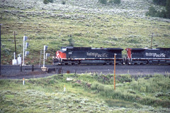 Southern Pacific AC4400CW #298 heads east on Soldier Summit  UT on 7-17-96 (LE_Irvin) Tags: southernpacific ac4400cw soldiersummitut