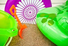Sand & Beach Toys (Orbmiser) Tags: beach sand toys shovel bucket nikon d90 55200vr portland oregon