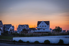 Blue Shadow, Orange Sky (Evan's Life Through The Lens) Tags: camera blue light sunset 2 summer two orange sun house color green glass beautiful set lens town warm day random mark vibrant ii 5d f28 mk 2016 2470mm
