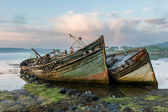 Old Boats (Ed Swift) Tags: salen hdr wrecks abandoned 1835mmf18 ships sigma sunset water mull outdoors 7d2 canon isleofmull sigma1835mmf18art pastel