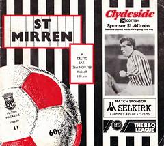 St Mirren vs Celtic - 1988 - Cover Page (The Sky Strikers) Tags: street love st magazine scottish match celtic premier league bq clydeside 60p mirren