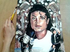 Process Michael Jackson - acrylic (lorreynekathenin) Tags: art illustration photography photo cool perfect acrylic gallery foto arte drawing picture drew pic michaeljackson draw fotografia ilustrao desenho tinta kingofpop acrilico