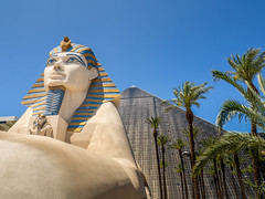 Luxor Casino (Anthony's Olympus Adventures) Tags: lasvegas lasvegasstrip casino nv nevada vegas sculpture entrance pyramid luxorhotelandcasino thestrip luxor strip