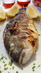 ... non guardarmi cos !!!   :)) (carlo612001) Tags: food fish yummy slowfood pesce orata grigliata pescefresco