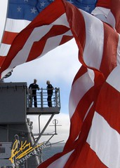 Battle Flag USS Cape St. George, Deployed (John King Photography) Tags: st george americanflag cape uss starsandstrips usscapestgeorge