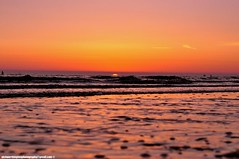 On the horizon (snapnikonnick) Tags: sunset shadow beach water liverpool waves seashore crosby