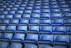 Empty Seats (Tony Worrall Foto) Tags: uk blue english lines football northwest stadium empty north shapes row seats same blocks quirky blackburnrovers rowofemptyseats 2013tonyworrall edwoodpark