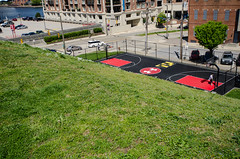 Federal Hill Park - overlooking the court (m01229) Tags: park basketball unitedstates maryland baltimore basketballcourt federalhill innerharbor underarmour federalhillpark d7000