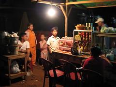Food stall in Ban Lung in Ratanakiri, Cambodia (mbphillips) Tags: cambodia mbphillips canonixus400