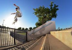 Josh Pineda - Ollie (JAKE PINEDA) Tags: arizona sky nikon skateboarding flash az fisheye flashphotography skatepark skate skateboard skater d5100