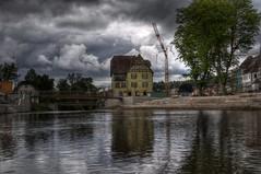 River Hotel (Martron Hux) Tags: clouds river hotel bridges wolken baustelle fluss hdr landesgartenschau brcken 2014 photomatix rems schwbischgmnd josefsbchle