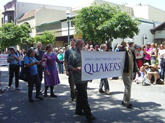 The Santa Cruz Friends (Quakers) Meeting marching in the 2013 Santa Cruz Pride parade (Tan Tachyon) Tags: phoenix matisse garry quakers santacruzpride 2013 santacruzfriendsmeeting