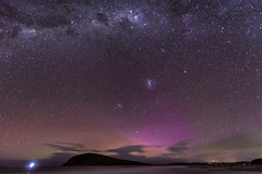 small Aurora and MilkyWay over betsy island. (Ben Sugden) Tags: night star nikon long exposure tasmania late nikkor f28 d800 1424