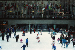 New York Rockefeller Centre Dec 1990 008 Ice Skating (photographer695) Tags: new york ice centre skating dec rockefeller 1990