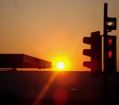 sunset9245 (michaelgrr) Tags: sunset backlight germany evening trafficlight
