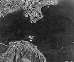 US bombing Kowloon  and Harbor (SSAVE) Tags: hongkong japanese wwii worldwarii nara kowloon usaaf fold3