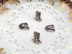 Cowboy Hat & Boots Novelty Metal Buttons (christine@planeteventsdirect) Tags: hat metal silver cowboy boots buttons sewing crafts creative novelty stetson fastenings