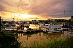 Richmond Steveston Marina at Sunset (TOTORORO.RORO) Tags: life travel light sunset canada flower reflection tourism colors vancouver port reflections walking lens golden living boat fishing fisherman community day village bc view zoom cloudy harbour yacht britishcolumbia sony lifestyle wideangle tourist richmond v3 fishermanswharf glowing alpha popular visitor f4 hdr steveston attractions oss nex sf3 greatervancouver mirrorless 1018mm nex6 sel1018