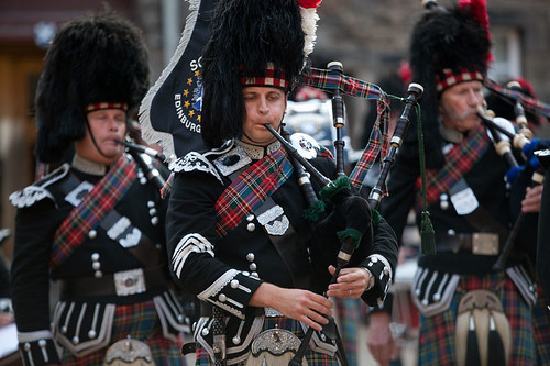 Bagpipers at the Edinburgh Castle Reception