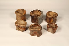 Futaoka - Lid rests (熊窯 陶工房 www.kumagama.com) Tags: ceramics tea teaceremony chawan chado chanoyu teabowl urasenke japanesepottery mizusashi kensui codykroll futaoka
