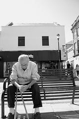Afternoon nap (Cameron Webb) Tags: street white black mono scotland nikon ayr d90 ayrhighstreet