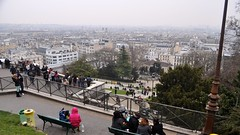 Square Louise Michel, Montmartre, Paris (David McKelvey) Tags: paris france landscape nikon europe view basilica hill montmartre dslr rightbank sacrcur 18tharrondissement 2013 d5000 squarelouisemichel