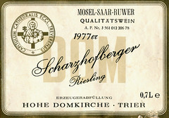 Dom Scharzhofberger 1977 (Saar) (roger4336) Tags: river germany deutschland cathedral wine 1977 bishop trier mosel wein saar rheinlandpfalz moselle wiltingen scharzhofberger