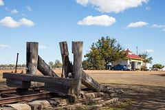 Buffer Stop (oz_lightning) Tags: sky cars station architecture landscape decay transport tracks australia qld queensland geography aus railways canonef24105mmf4lisusm dirranbandi canon6d
