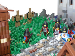 16 (CyberPacket) Tags: wood bridge party horse house tree tower castle classic rock wooden war king village lego forrest battle medieval well drawbridge forge stable moc