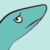 'oh, plesiosaur' icon (Serenae) Tags: ocean sea art water swimming design marine graphic reptile science september oh aquatic predator biology pun puns plesiosaur mosasaur 2013 tylosaurus