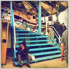 Menzel's Zugspitzbahn (Casey Hugelfink) Tags: stairs munich mnchen homeless carousel oktoberfest wiesn zugspitzbahn