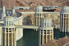 Hoover Dam / Arizona-Nevada, USA (Custom_Cab) Tags: hoover boulder dam hydro electic arizona nevada us usa united states las vegas wife pictures picture city colorado river black canyon lake mead water intake towers tower