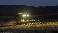 Harvest Time (Squirrel Girl cbk) Tags: usa field night lights corn harvest maryland combine moment hardwork harvesting windowofopportunity