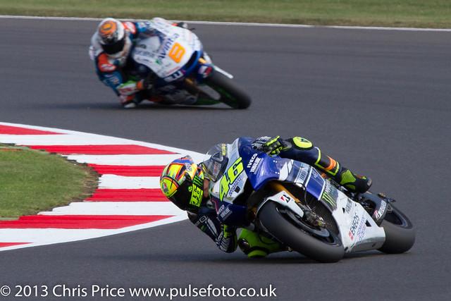 Valentino Rossi and Hector Barbera