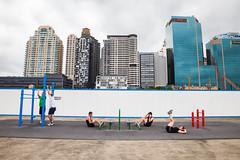 Sydney (Victoriano) Tags: sky sport skyline modern buildings healthy sydney australia skyscrappers health modernlife gym abs oceania
