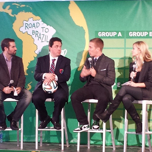 The World Cup draw program has begun w/@TaylorTwellman. #USMNT #MLSCup #SportingKC #WatchThis