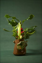 14th December 2013 (EmmaDurnford) Tags: christmas tree candle berries decoration holly pot mistletoe