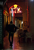 Lairy (the bbp) Tags: street light boy italy cinema bar night lights neon strada italia streetphotography luci portici sedie notte odeon luce vicenza portico ragazzo chiars thebbp