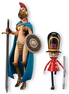 海賊王 超STYLING VALIANT MATERIAL 蕾貝卡 & 獨腳玩具兵