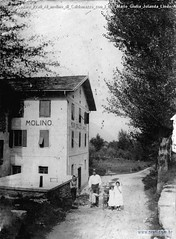 Giulio Cesare Prati Al molino di Caldonazzo con i figli Mario Giulia Jolanda Lindo Aldo 1908
