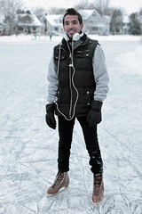 Khalid (local paparazzi (isthmusportrait.com)) Tags: portrait lake cold english ice canon outdoors eos 50mm prime frozen cool student pond pod lowlight education dof pants bokeh unique f14 skating grain freezing rental falling jacket gloves hoody portraiture bubble learning headphones zipper uwmadison chilly iced vest usm sweatshirt madisonwi icy noise iceskates snowfall interested frigid saudiarabia slippery ef laces pockets beats iso1600 frozenlake unprepared slipping fascinated resident computerengineering secondlanguage 2013 50mmf14usm tennypark danecountywisconsin photoshopelements7 canon5dmarkii pse7 localpaparazzi redskyrocketman lopaps 100morestrangers tennypond